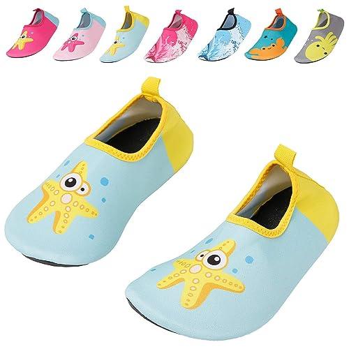 ac7944c08d Caitin Kids Water Swim Shoes Quick Dry Non-Slip Barefoot Aqua Socks for  Beach Pool