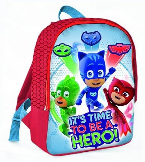 PJ Masks Héroes En Pijamas A95769 Mochila Infantil, 32 Centímetros, Multicolor, Gatuno,