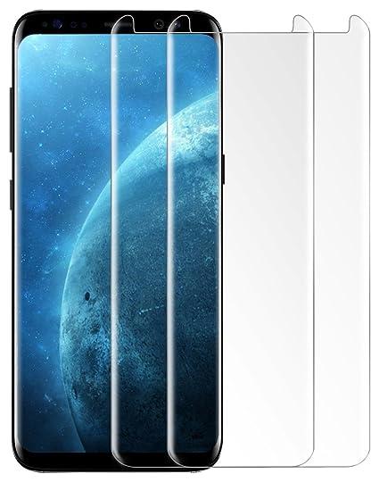 Amazon Com Samsung Galaxy S8 Screen Protector Lesozoh 0 26mm Full