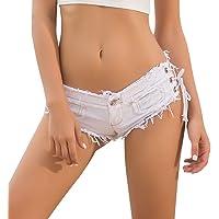 Yollmart Women Sexy Cut Off Low Waist Denim Jeans Shorts Mini Hot Pants
