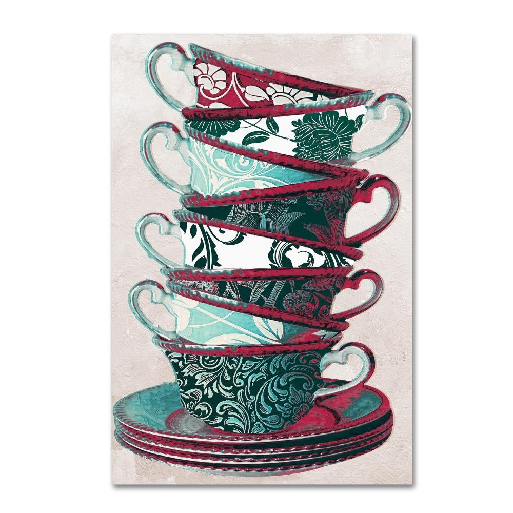 Trademark Fine Art Afternoon Tea III by Color Bakery Canvas Wall Art 12x19