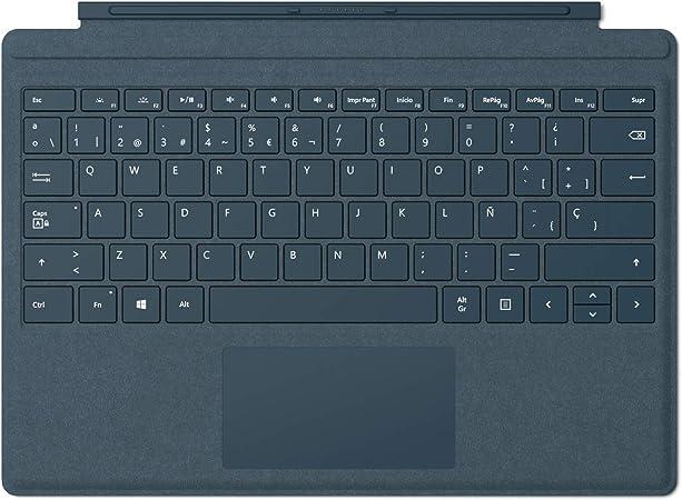 Microsoft Signature Type Cover - Funda con teclado para Surface Pro, Azul - Teclado QWERTY Español