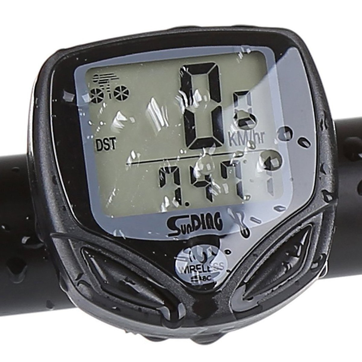 LUPO Wireless Bike Computer Waterproof Speedometer Odometer with Backlight LCD Display Tracking Distance Average Speed Time