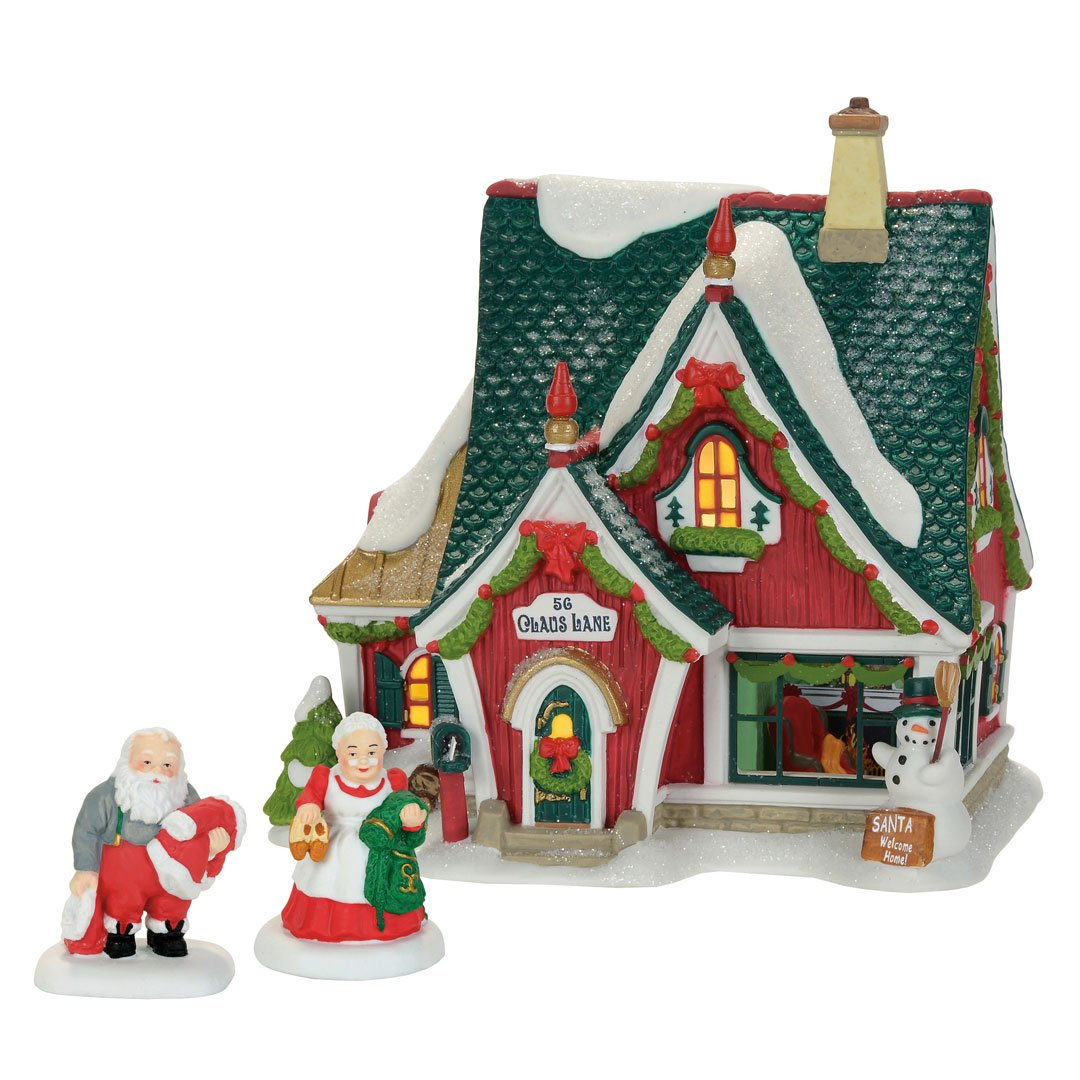 Department 56 North Pole Home for The Holidays Set Village Accessory, Multicolored 4059382