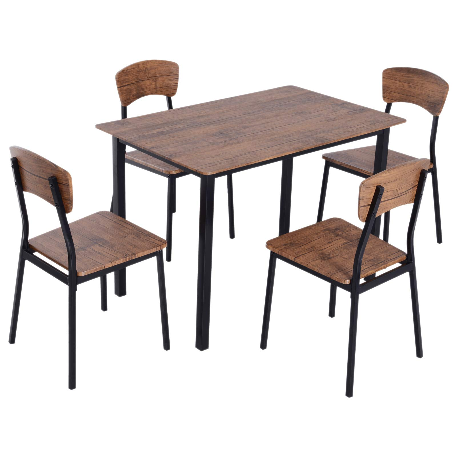 HOMCOM 5 Piece Modern Counter Height Dining Table and Chairs Set by HOMCOM
