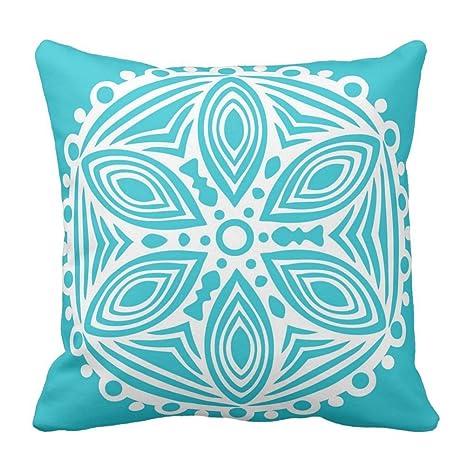 Bags-Online Color Azul Turquesa y Blanco patrón de diseño de ...