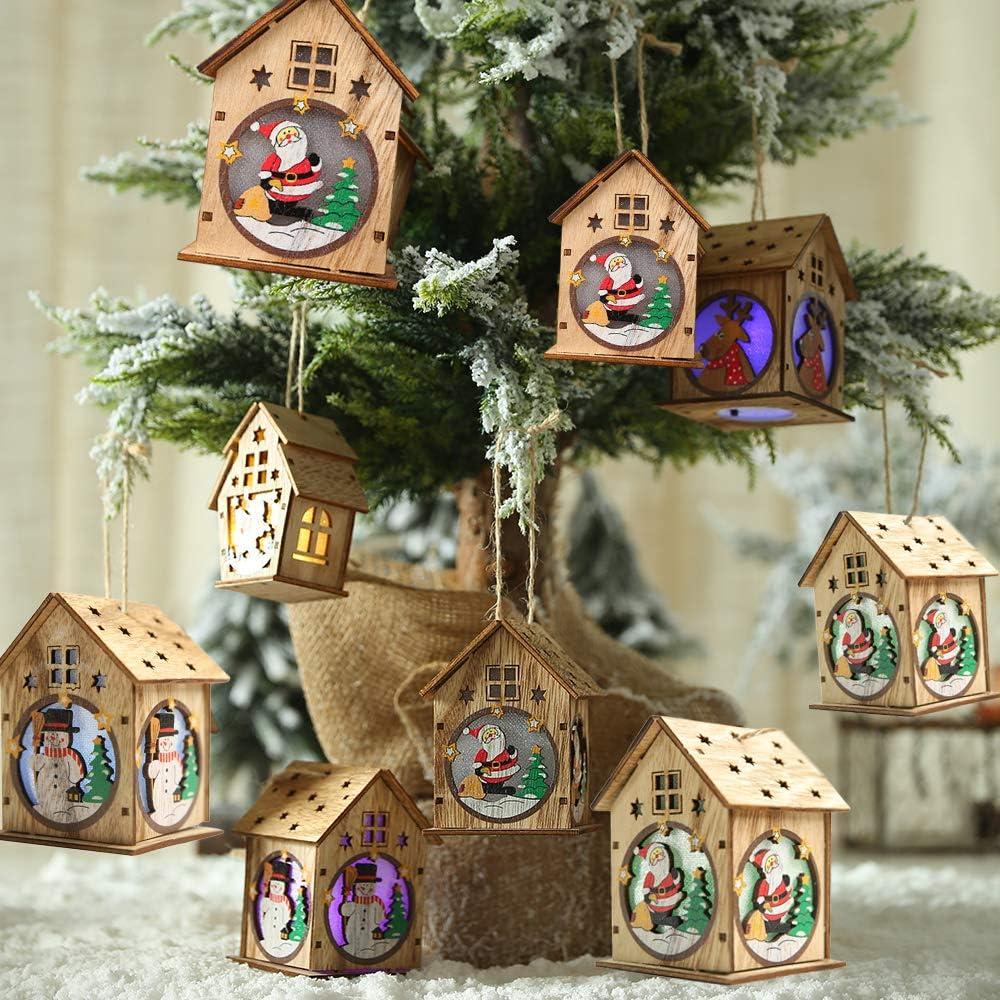 Decorativas casitas de #Navidad con luz LED por sólo 3,49€ usando el #código: Y5C3ZPVD