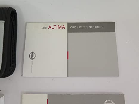 amazon com 2006 nissan altima owners manual nissan automotive rh amazon com Quick Reference Guide Book Quick Start Guide