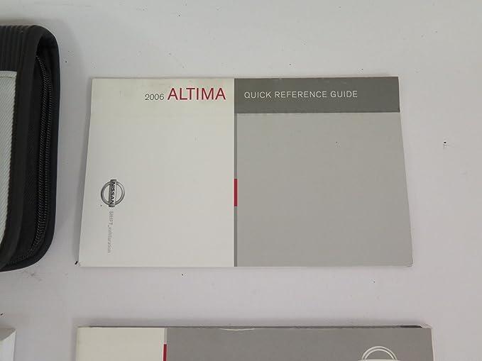 amazon com 2006 nissan altima owners manual nissan automotive rh amazon com Training Quick Reference Guides Quick Reference Guide Book