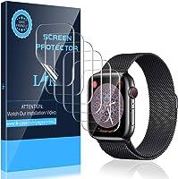 LK [6 件裝] Apple Watch 40mm 系列 4/5 屏幕保護膜 - 最大覆蓋范圍無氣泡防刮 iWatch 40mm 柔性 TPU 透明薄膜