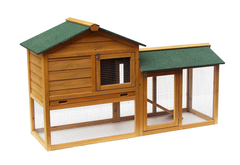 Exacme Lovupet 58'' Deluxe Wooden Chicken Coop Backyard Nest Box Pet Cage Rabbit Hen Hutch 6010-0305