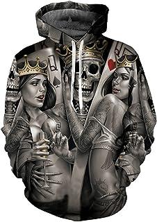 Unisex 3D Hoodies Print Metal Skulls Bride Groom Hoodies 3D Sweatshirts Hoody