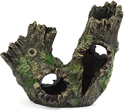 Saim Aquarium Decor Rotten Hollow Decorative Tree Wood Ornaments For Fish Tank Amazon Co Uk Pet Supplies