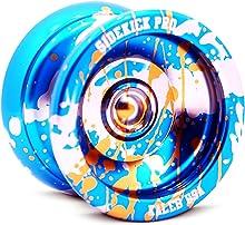 Sidekick Yoyo Pro Splashes Professional Aluminum UNresponsive YoYo (Blue / Silver / Gold)