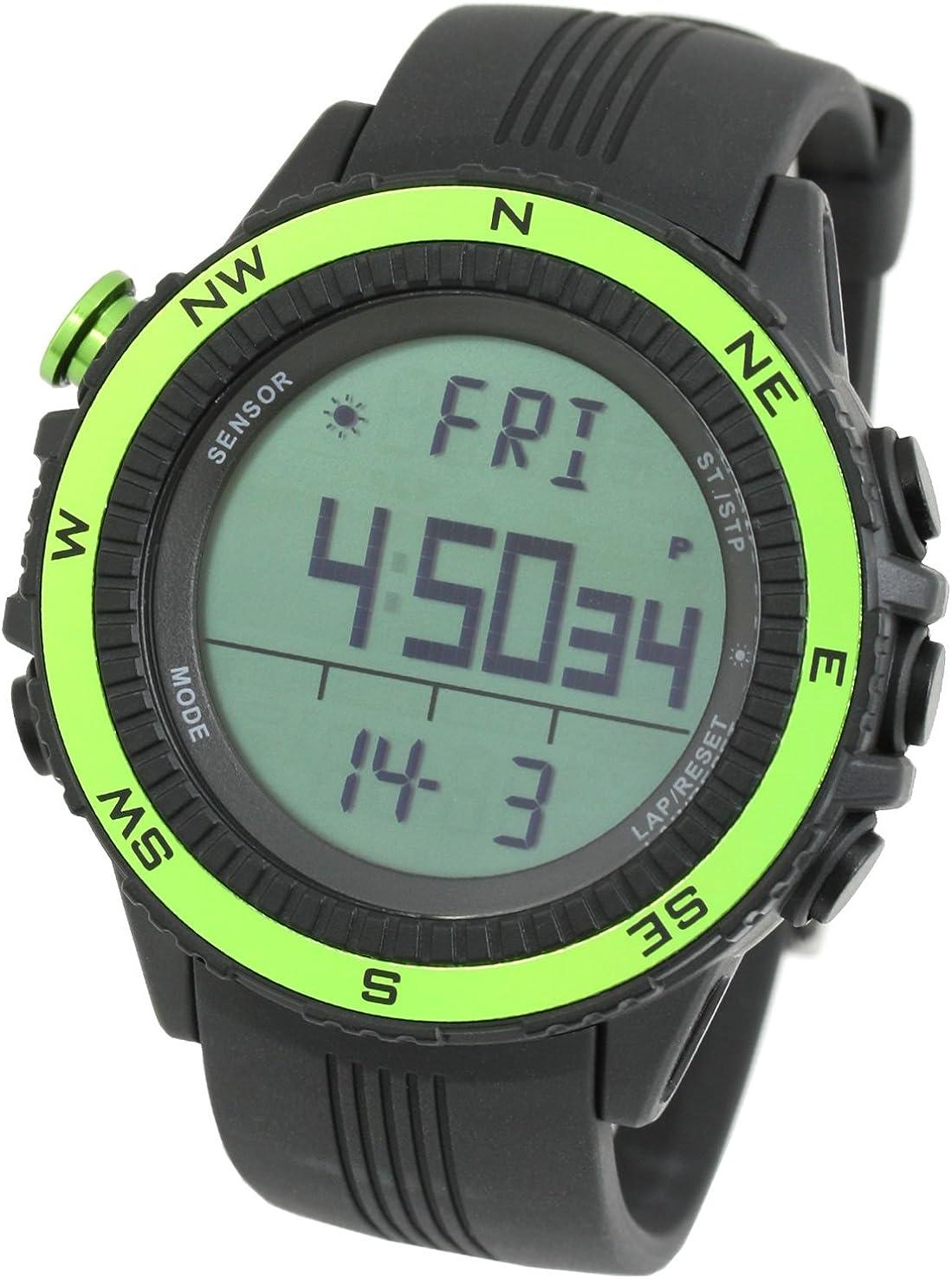 Lad Weather Reloj Altímetro Barómetro Brújula Termómetro Pronóstico del Tiempo Marca de America y Japón Reloj Deportivo al Aire Libre