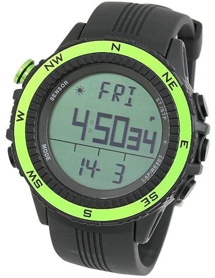 LAD WEATHER Reloj Altímetro Barómetro Brújula Pronóstico del Tiempo Deportes Sensor Alemán (grno)