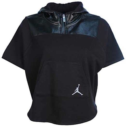 20ddef58ed99 Amazon.com  Jordan Big Girls  (7-18) Nike Tonal Coated Fleece Hooded ...