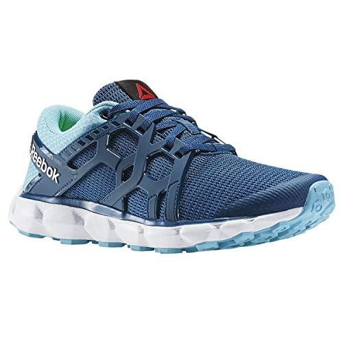e5b1e573a8b101 Reebok Hexaffext Run 4.0 MTM Womens Running Shoe 11.5 Noble Blue-Crisp Blue- White-Solar Yellow  Buy Online at Low Prices in India - Amazon.in