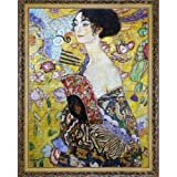Cutoy 2000 Piece Jigsaw Puzzle - Lady with Fan by Gustav Klimt Jigsaw Puzzle for Kids Adult Man Women Teens Reduced Pressure Toy Gift - Learning and Education Toys Gift April Fool's Day Gift