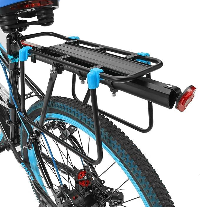 OUTERDO Portabultos trasero de aluminio para bicicletas, 35 x 14,5 ...