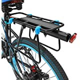 DCCN 37L Bicycle Rear Pannier Pack Multi-Function Bike Seat Bag with Rain Cover