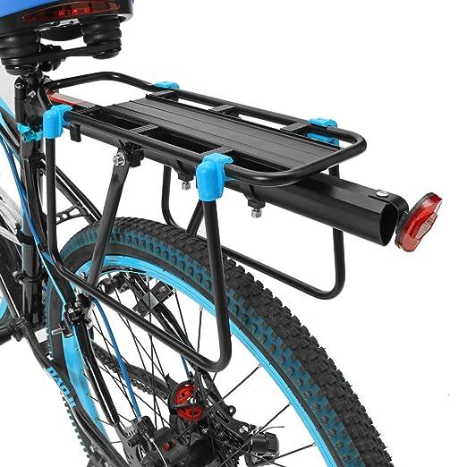52 opinioni per OUTERDO Portapacchi per Biciclette Posteriore in Alluminio 33*14,5cm- Nero