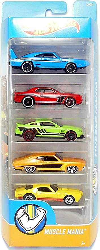 Amazon Com Hot Wheels 2018 Muscle Mania 1 64 Scaled 5 Pack Toys