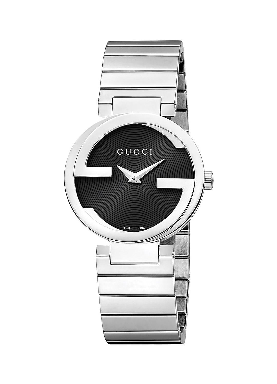 be8d63a19a5 Amazon.com  Gucci Women s Interlocking Watch - Silver Black  Watches