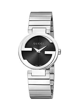 bea5bc44355 Amazon.com  Gucci Women s Interlocking Watch - Silver Black  Watches