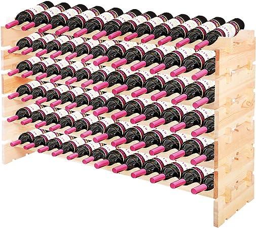 erweiterbar Weinregal Flaschenregal Bierflaschenregal für 4 Flaschen stapelbar