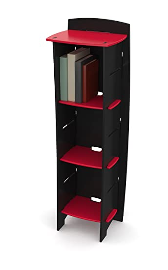 Legaré Kids Furniture Race Car Series Collection, No Tools Assembly 3 Shelf  Bookcase, Design
