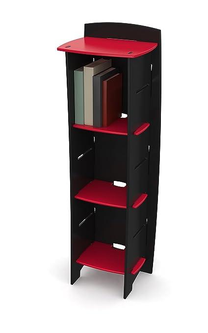 Legare Kids Bookcase 3 Tier Bookshelf Red And Black