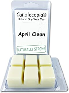 product image for Candlecopia April Clean Strongly Scented Hand Poured Vegan Wax Melts, 12 Scented Wax Cubes, 6.4 Ounces in 2 x 6-Packs