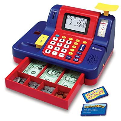 Great mini cash register with lights, sounds and voice messages
