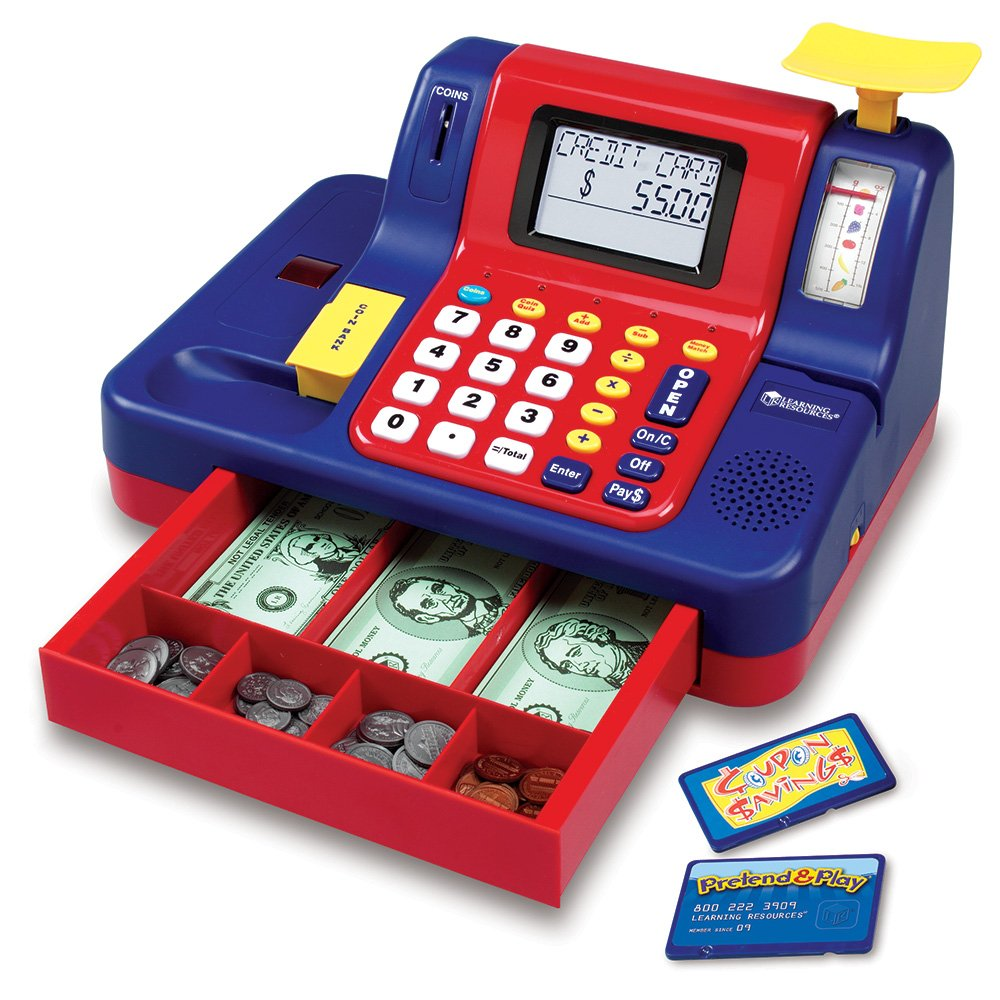 Learning Resources Pretend & Play Teaching Cash Register 6