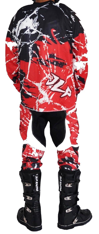 Traje de motocross para ni/ño de 7/ BMX bici de monta/ña talla 24/US//L JLP Racing MTB guantes y camiseta color rojo pantal/ón /8/a/ños para quad