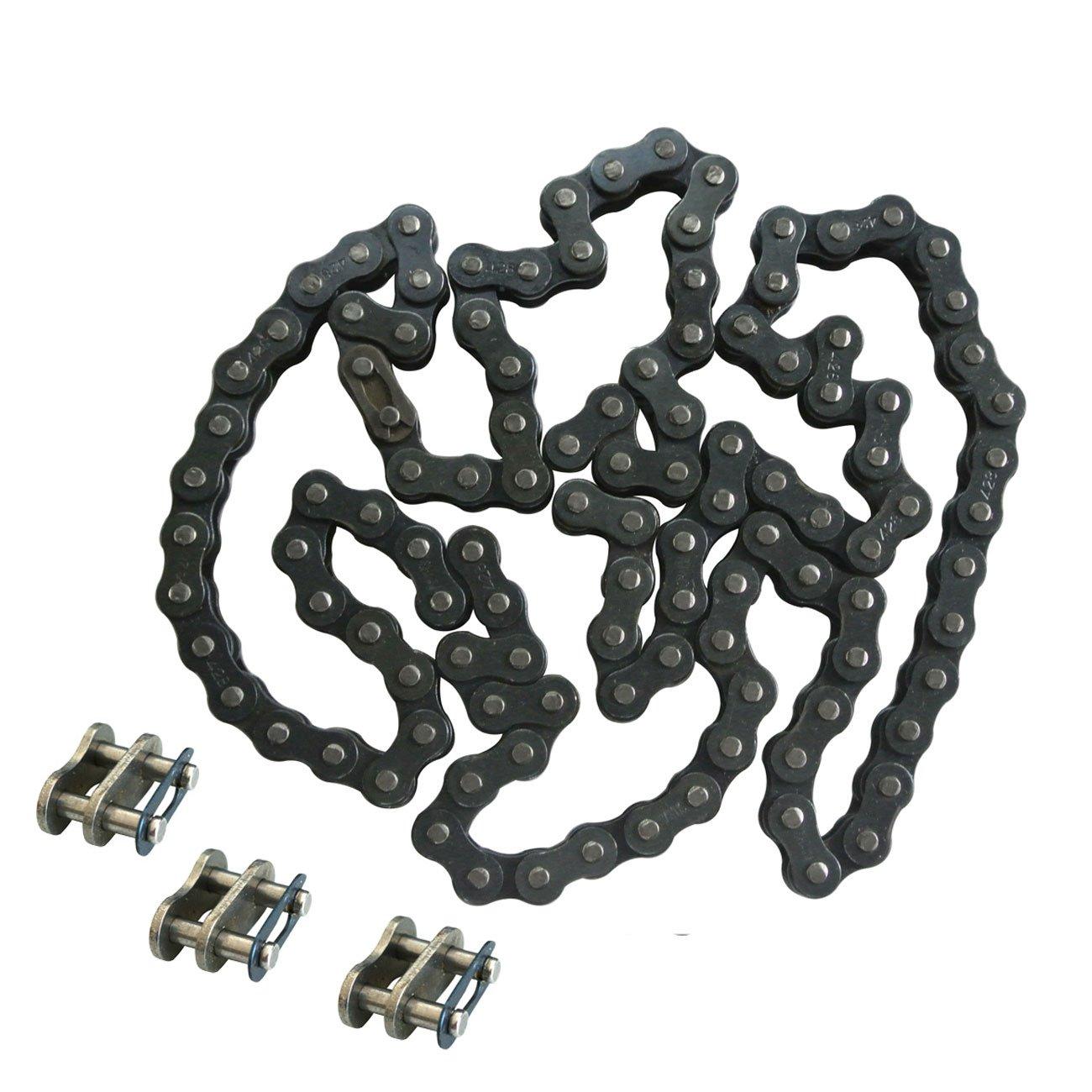 New Drive Chain 428-112 Links Fit Pit Bike Dirt Bike With 3Pc 428 Chain Master Link JL JIANGLI LEGEND
