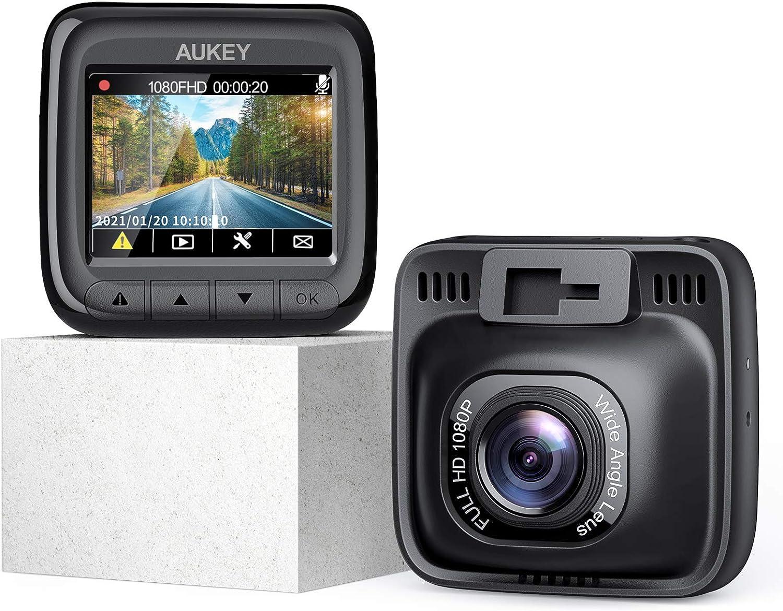 Aukey Dashcam Fhd 1080p Autokamera Mit 170 Grad Weitwinkel Superkondensator Wdr Nachtsicht Kamera Für Auto Mit G Sensor Bewegungserkennung Loop Aufnahme Und Dual Port Kfz Ladegerät Navigation