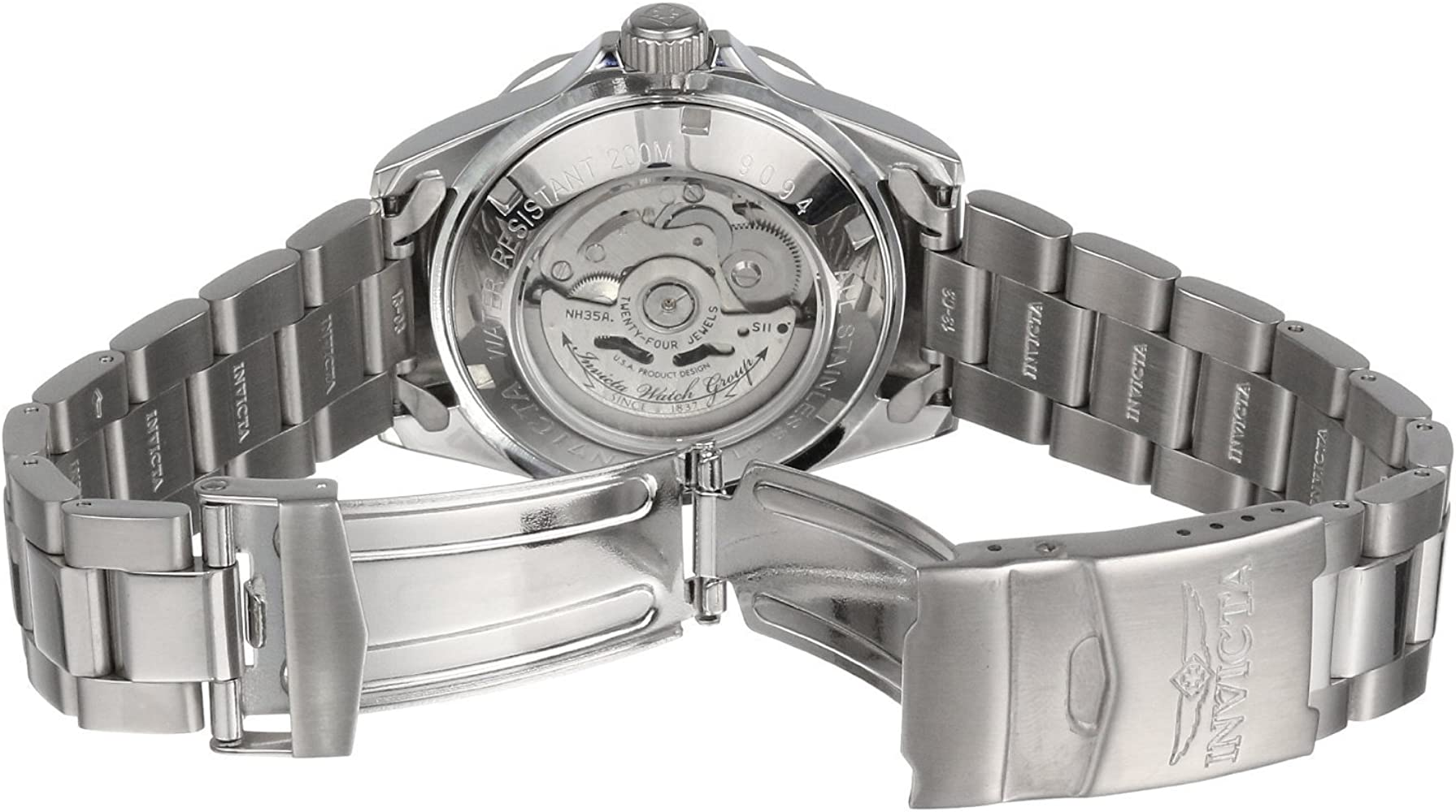 Invicta Men 9094 Pro Diver Collection Stainless Steel Automatic Dress Watch with Link Bracelet