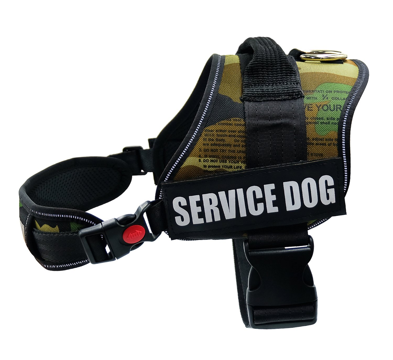 Fairwin Service Vest Dog Harness - Adjustable Nylon Dog Vest with Reflective Patches for Service Dogs Large Medium Small In Training