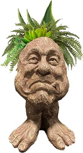Muggly Neighbor Mr. Magoo Planter Face Pot Patio Garden Statue