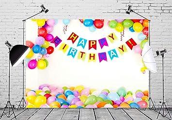 Beleco Fondo De Cumpleaños Para Fiesta De Cumpleaños Decoración Interior De Cumpleaños Y Globos De Colores Para Fiestas De Cumpleaños Suministros Para Niños Y Niñas Camera Photo