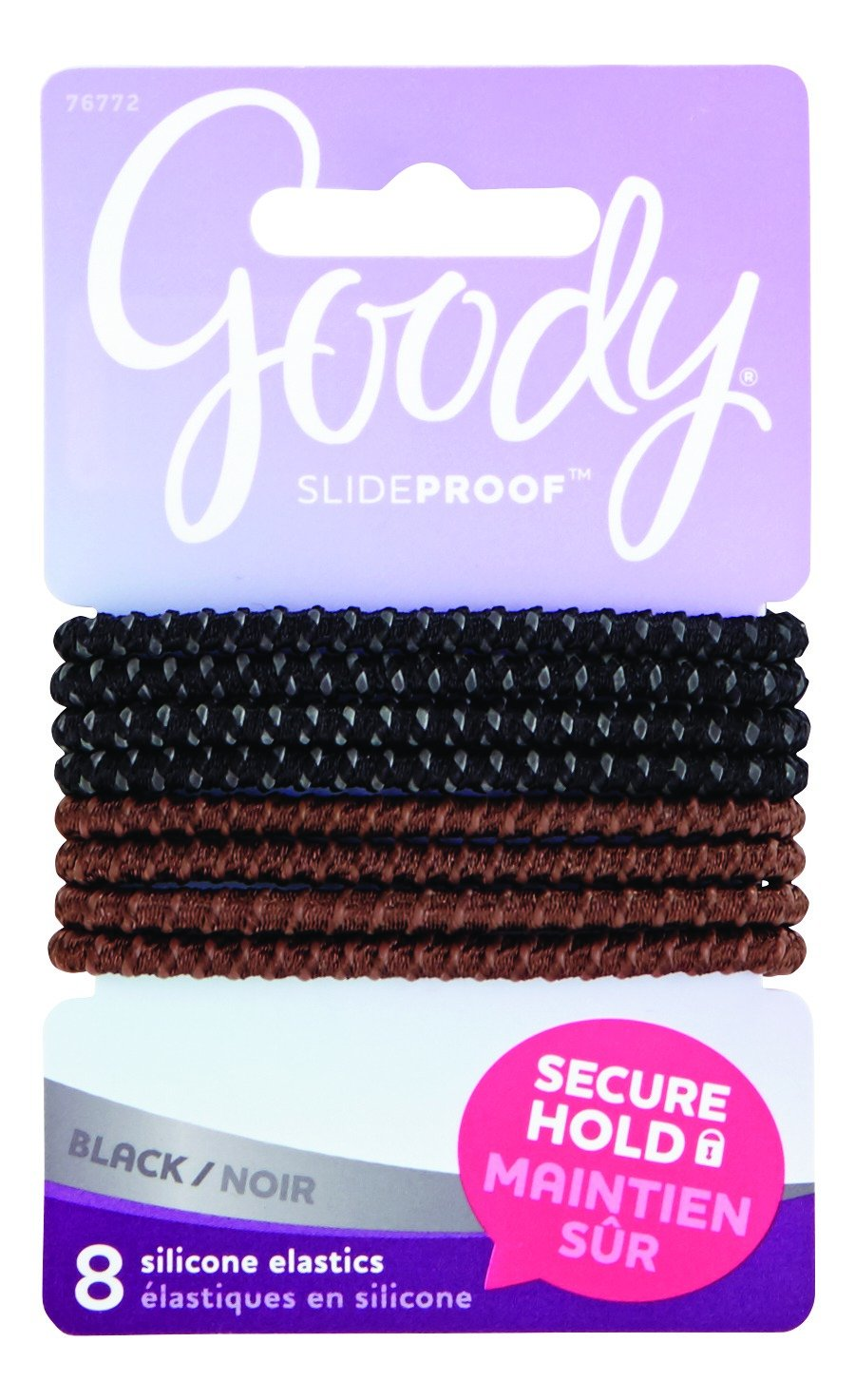 Amazon.com   Goody SlideProof Silicone Hair Tie Elastics c5838fae524