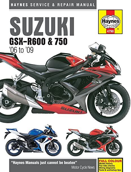 Title suzuki gsx-r600 and 750 service and repair manual: 2006 to.