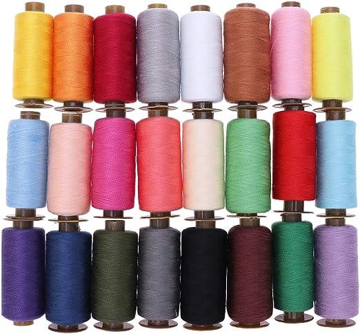 SUPVOX Hilo de coser de poliéster de 24 colores, hilo de coser de ...