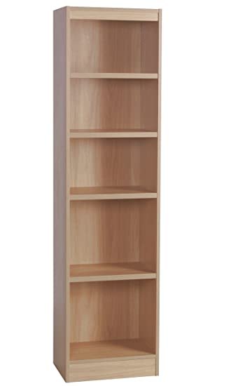 tall narrow white wood bookcase bookshelf with doors home office furniture files cabinet beech shelves
