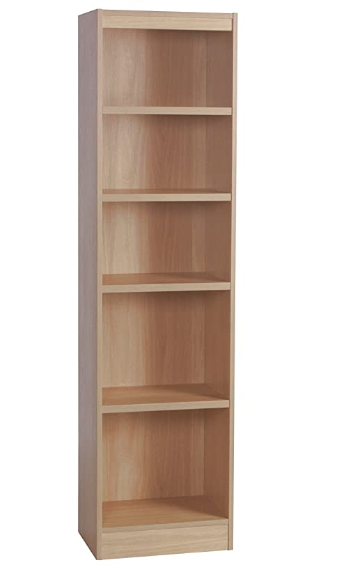 Home Office Furniture UK Tall Narrow Bookcase Bookshelf Files ...