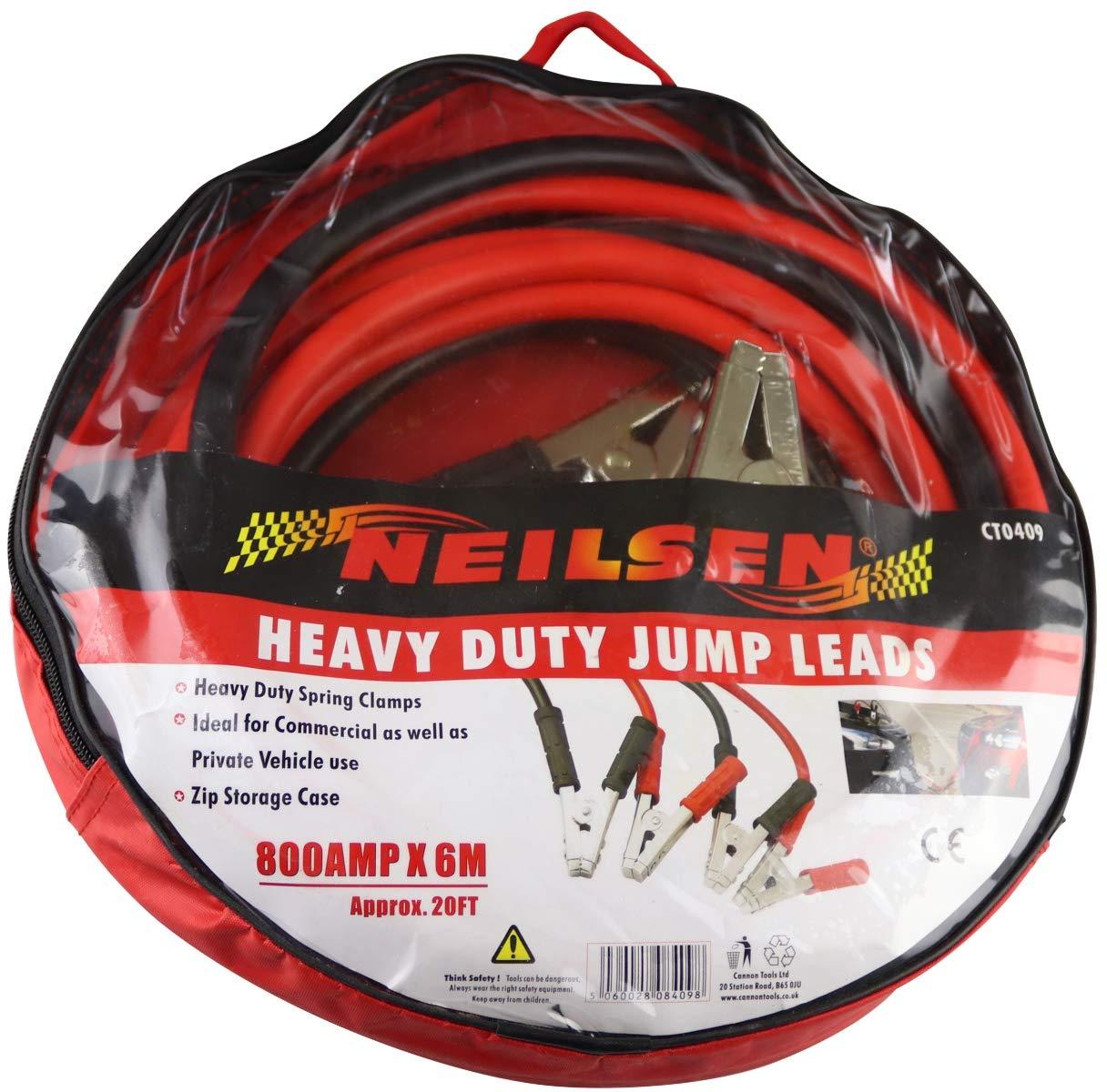 /Rojo Neilsen ct0409/6/m 20/ft 800/A Heavy Duty Jump Lead/
