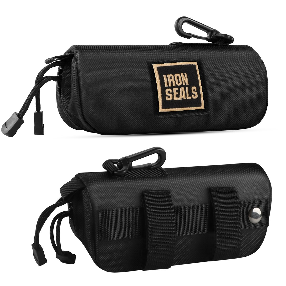 IronSeals Tactical Molle Sunglasses Case Oversized Anti-Shock Hard Clamshell Glasses Case