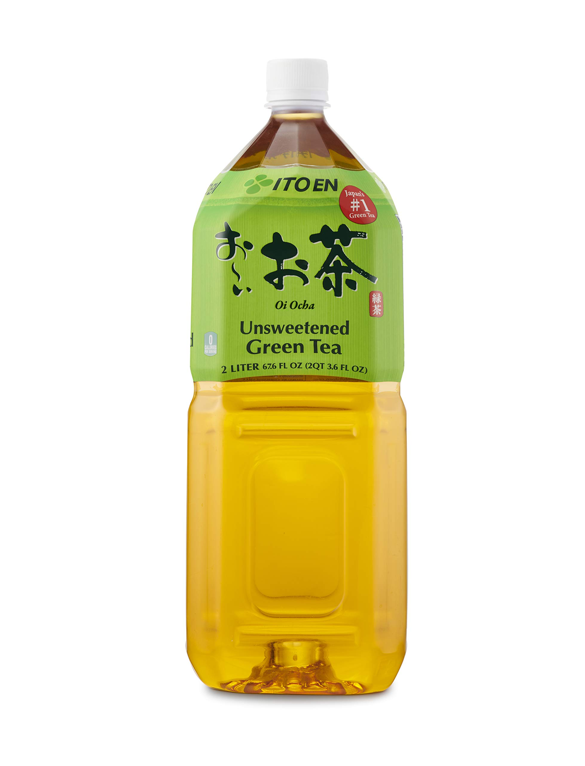 Oi Ocha Green Tea, 2 Liter Bottle (Pack of 6), No Sugar, No Artificial Sweeteners, Antioxidant Rich, Authentic Japanese Green Tea, Caffeinated, High in Vitamin C by Ito En